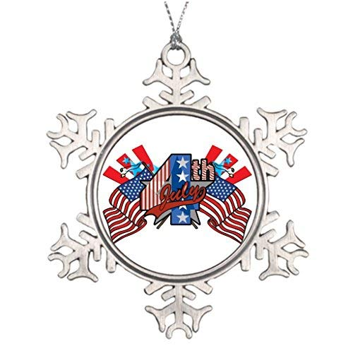 OneMtoss Christmas Snowflake Ornament Ideas for Decorating Christmas Trees Fireworks 4th of July Xmas Tree -