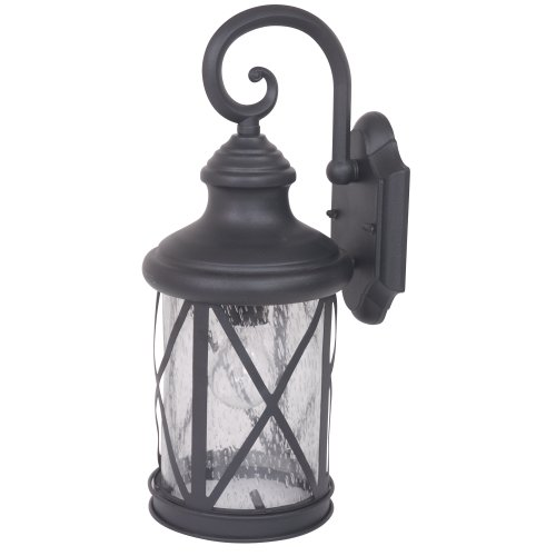 Yosemite Home Décor 5041BL-M Mahony Collection 7.75-Inch Incandescent Exterior, Black