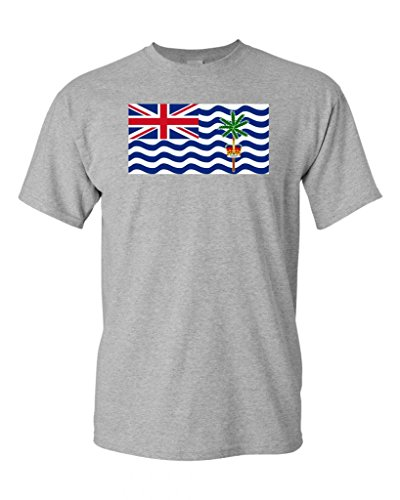 British Indian Ocean Territory Country Flag Adult DT T-Shirt Tee (XXXXX Large, Sports Gray)
