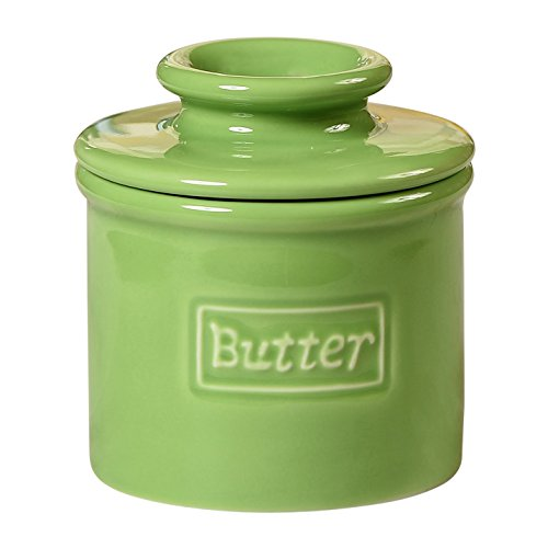 (Butter Bell - The Original Crock by L. Tremain, Fleur de Provence Collection - Lime Green)