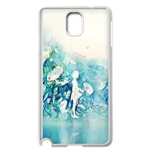 Samsung Galaxy Note 3 Cell Phone Case White_ai06 watercolor blue girl nature art illust Epwen