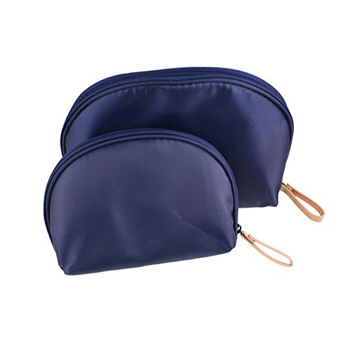 2 Pcs Small Travel Clutch Makeup Cosmetic Bag Set For Purse Handy Compact Cosmetic Storage Pouch Organizer For Women Teens Girls
