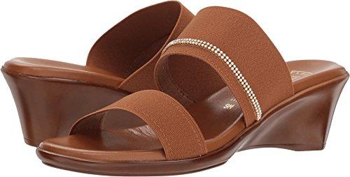 ITALIAN Shoemakers Women's Miami Slide Sandal, Luggage, 7.5 Medium US