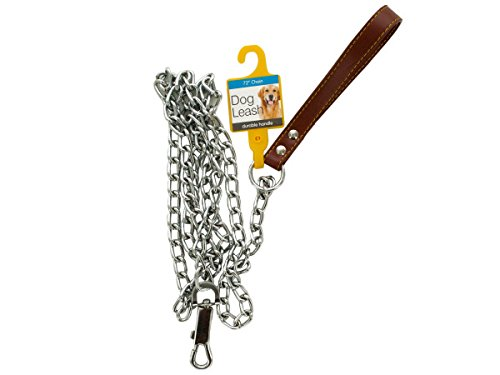 bulk buys OD385-16 Chain Dog Leash with Durable Handle by bulk buys