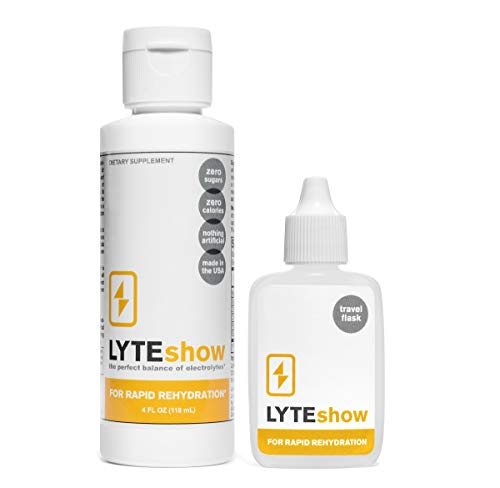 LyteLine Ionic Electrolyte Concentrate for Rapid Rehydration |1 Bottle + Travel Flask