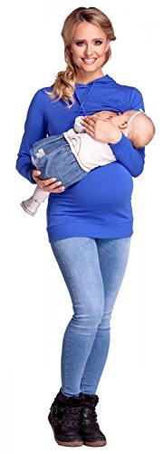 A Happy Top Per L'allattamento Cappuccio 272p Blu Felpa Mama Strati Donna Royal Prémaman I0xnY0qOw1