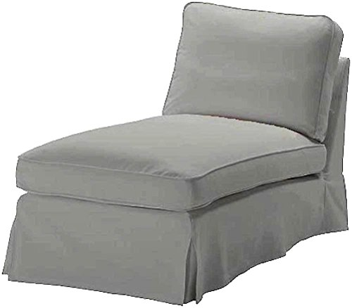 Photo The Dense Cotton IKEA Ektorp Chaise Cover Replacement is Custom Made for IKEA Ektorp Chaise Lounge Cover. A Sofa Slipcover Replacement (Gray)