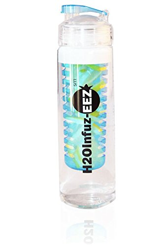 Fabulous Fruit Basket (H2OInfuz-EEZ 27oz Sport Water Bottle With Removable Fruit Infuser Basket | Scratch Resistant, Leakproof, 100% BPA-Free Tritan Body | Dishwasher, Microwave & Freezer Safe | 100% Satisfaction Guaranteed (blue))