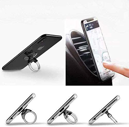 3 in 1 Universal Phone Ring Stand Car Holder Gold Tvoip 2Pcs Cell Phone Ring Holder Finger Grip Phone Holder and Tablet Stand Car Vent Phone Mount