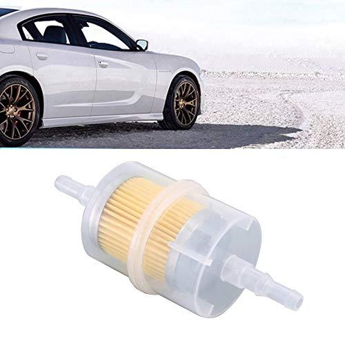 932 Filtro de gasolina de combustible en l/ínea Filtro de aceite universal grande apto para tubos de 6 mm y 8 mm-Blanco