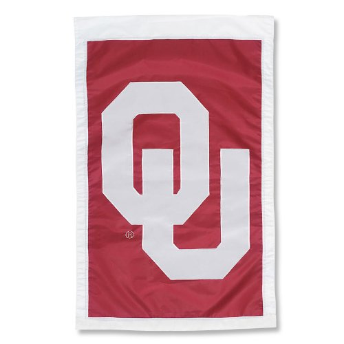 NCAA Oklahoma Sooners Double Sided 29 x 44-Inch Applique Flag (Applique Oklahoma Ncaa Sooners)