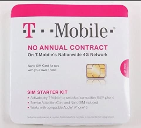 T-Mobile Nano SIM Card for any Unlocked GSM Phone (No Annual Contract) (Unlock Phone With Any Micro Sim)