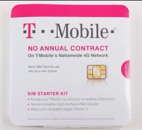 Any Gsm Sim Card (T-Mobile Nano SIM Card for any Unlocked GSM Phone (No Annual Contract))