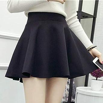 Minifalda plisada de cintura alta para mujer Falda abatible grande ...