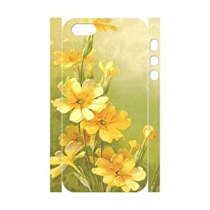 Vintage Flower Watercolor Customized 3D Cover Case for Iphone 5,5S,custom phone case ygtg587447