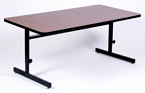Correll CSA2448-07 Adjustable Height School/Office/Computer and Training Table, High Pressure Laminate Top, 24