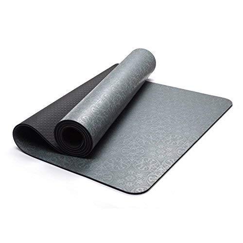 MEIDI Home Rutschfeste, Wasserdichte und atmungsaktive Fitness-Yogamatte 5mm Umweltfreundliche und geruchsneutrale Fitnessmatte