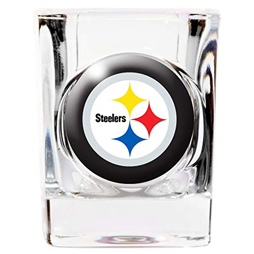 Great American Products Pittsburgh Steelers 2oz. Logo Square Shot Glass