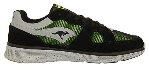 KangaROOS Herren Sneakers COIL-R1-MULTI Black/Lime 471420-580