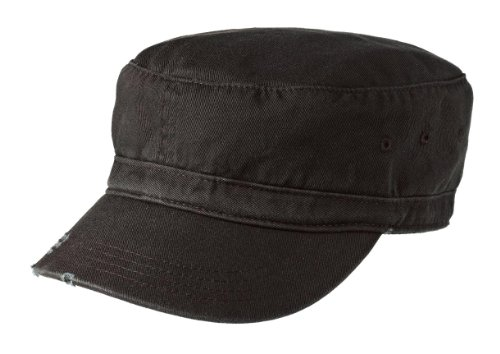 y Style Distressed Enzyme Washed Cotton Twill Cap-Black ()