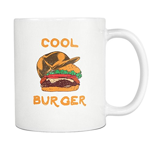 Halloween Burger Hat Funny - 11 Oz Coffee Mug Ceramic Hamburger Fast -