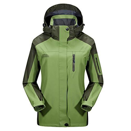 Vêtements L'eau Veste Manteaux Épaissie Femmes Coupe Imperméable À Pocket Montagne Travail vent Pour De Green Sport Zipper Capuche Wq7IqrX