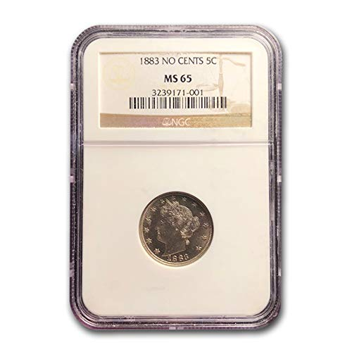 1883 Liberty Head V Nickel No Cents MS-65 NGC Cent MS-65 NGC