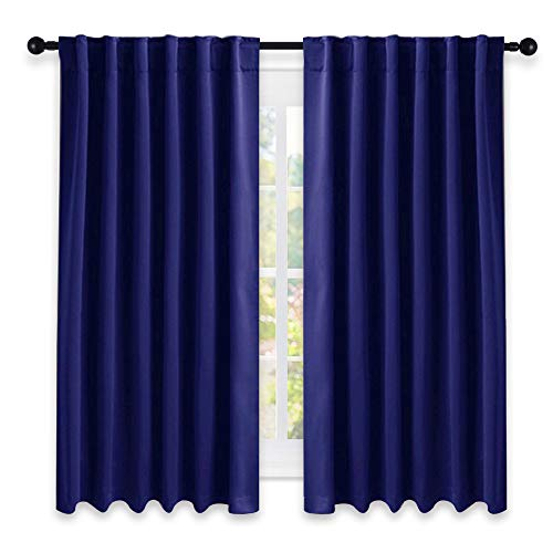 (NICETOWN Blackout Draperies Curtains Window Drapes - (Dark Blue Color) 52