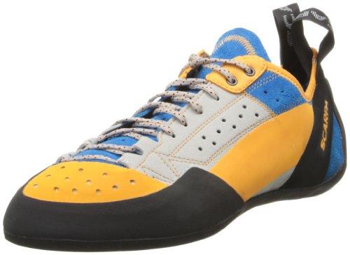 Scarpa Mens Men's Techno X Climbing Shoe,Silver/Azure,49 EU/14.5