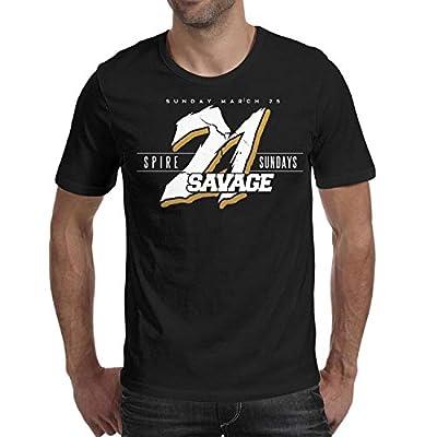 Wyhko Yhohb Men's Crew T-Shirt 21-Savage-Logo- Classic Shirts Cotton Comfort Short Sleeve