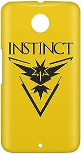 Loud Universe Nexus 6 Team Instinct Print 3D Wrap Around Case - Yellow