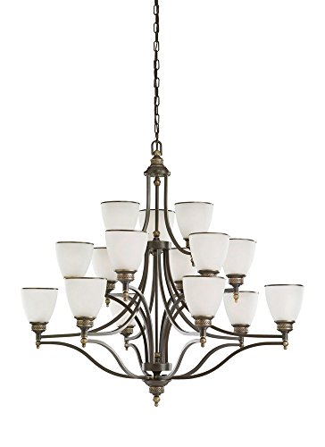 Sea Gull Lighting 31352EN3-708 Fifteen Light Chandelier, Estate - Leaf Laurel Chandelier