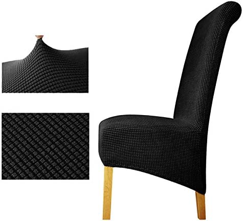 Zurück Plaid Chair Cover Sitzbezüge Stuhlhussen Restaurant Hotel Party Bankett Black XL Sizes