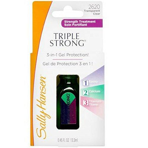 Sally Hansen Triple Strong Advanced Gel Nail Fortifier, [2620], 0.45 oz (2 pack)