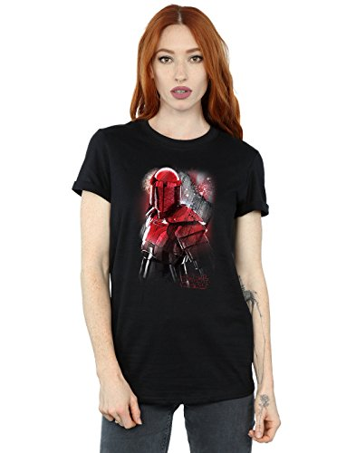 Camiseta The Novio Del Star Wars Last Fit Jedi Mujer Negro Brushed Guard Praetorian 8vFEwq