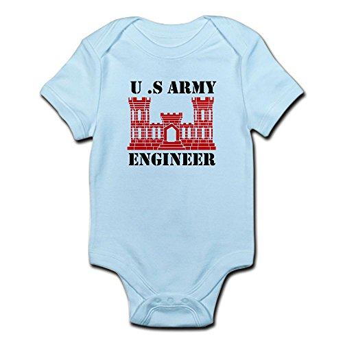 CafePress Army Engineer Castle Infant Bodysuit - Cute Infant Bodysuit Baby (Patriotic Military Infant Bodysuit)