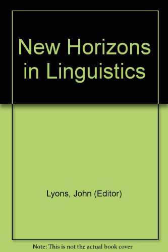 New Horizons in Linguistics