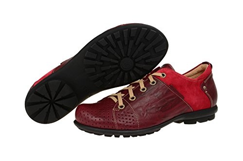 Think 0-80669-72 - zapatos con cordones Hombre , color rojo, talla 41 EU