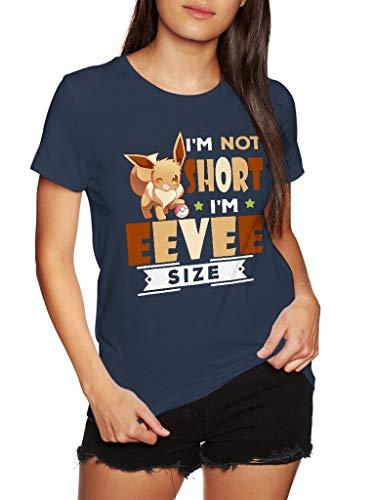 Pokemon I'm Not Short I'm Eevee Size - Funny Vintage Awesome Trending Shirt for Pokemon Fans Unisex Style by SMLBOO Shirt (Unisex Navy, M)