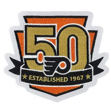 Image Unavailable. Image not available for. Color  2017 NHL Philadelphia  Flyers 50th Anniversary Official Hockey Game Jersey Patch ed3fd69bd