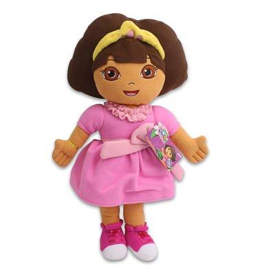 Dora The Explorer Princess Dress Plush Pillow (24 Inch)