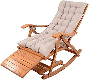 Deezu Tumbonas Jardin sillas reclinables, Capota Plegable de bambú Cubierta de Adultos portátil con ampliación de Las Pistas para el Puente del jardín (Color, Azul),Gris