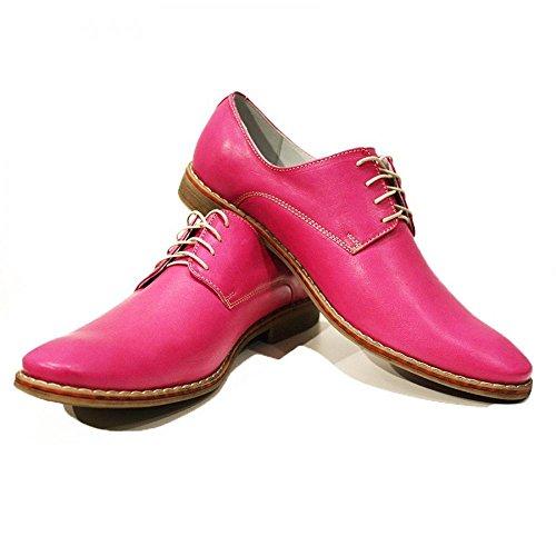 Modello Bartomoleo - Handgemachtes Italienisch Leder Herren Rosa Oxfords Abendschuhe - Rindsleder Weiches Leder - Schnüren