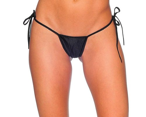BODYZONE Women's Tie-Side G-String, Black, One -