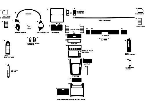 Rdash Dash Kit Decal Trim for Infiniti G35 2005-2006 (Coupe) - Carbon Fiber 4D (Black) by Rvinyl