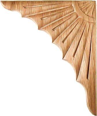 Veneered Oak Corner Applique - 2 Pc/Pack |one pair| 6-1/8