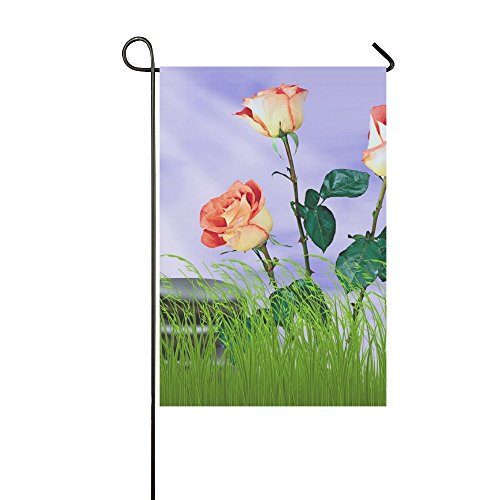 Home Decorative Outdoor Double Sided Flower Nature Summer Pl