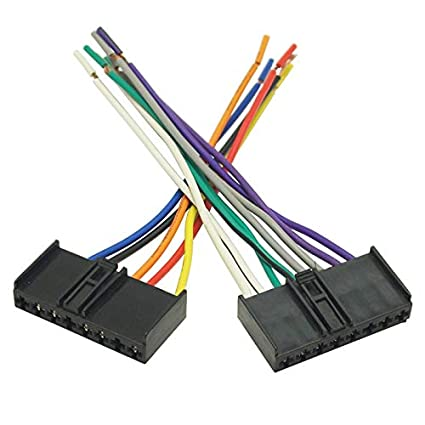 amazon com: feeldo car cd/dvd audio stereo wiring harness adapter plug for  ford mondeo mustang radio wire cable: car electronics