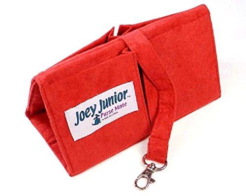 Joey Junior Mini Purse Organizer Insert -Ultra Suede-Red Rose