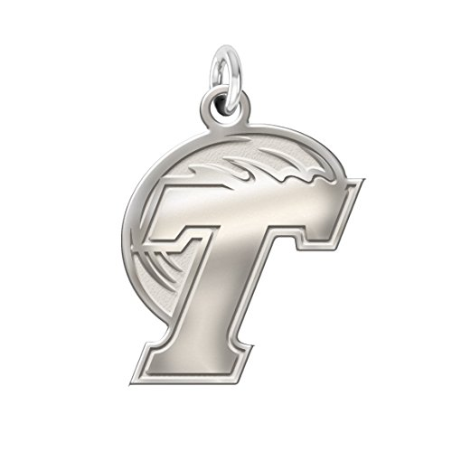 Wave Logo Pendant - Tulane Green Wave Charm - 3/4
